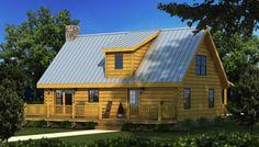 Greenwood I Rear Elevation - Southland Log Homes
