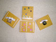 Gifts handmade mini cards 1,50 €