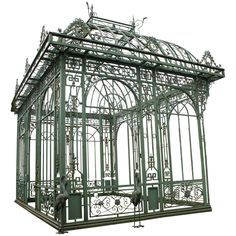 Exceptional Cast Iron Pavillon | From a unique collection of antique and modern architectural elements at https://www.1stdibs.com/furniture/building-garden/architectural-elements/