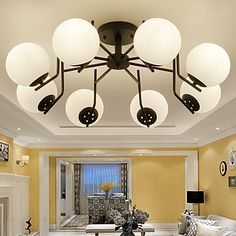 60W Flush Mount , Modern/Contemporary / Country Painting Feature for Mini Style Metal Living Room / Bedroom / Entry 5222136 2016 – $271.45