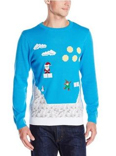 Men s Video Game Elf Ugly Christmas Sweater -  22.99 www.teelieturner.com  This would 07a5783c1