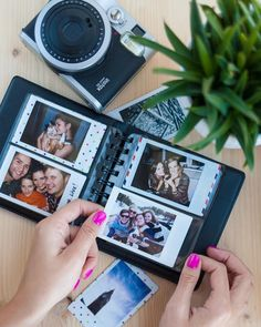 Fujifilm Instax Mini album for 64 photos of your sweet memories. The mini album is the perfect way to keep all your captured moments organised. Instax Mini Ideas, Instax Mini 70, Instax Mini Album, Instax Film, Fujifilm Instax Mini, Polaroid Photo Album, Polaroid Pictures, Polaroids, Polaroid Camera