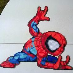 Spiderman perler beads by pixelpinoy