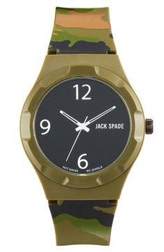 Blend in. Camo Jack Spade Watch.