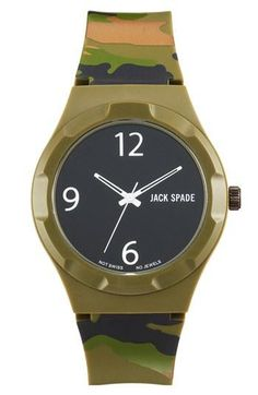 Blend in. Camo Jack Spade Watch.