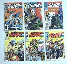 1985 GI Joe Comic Book Lot (6), Vintage! #34 40 59 55 56 32 Fine VF G.I. MARVEL #eBayDanna