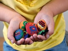 Little Monster Cross-Stitch Buttons - Fun Family Crafts
