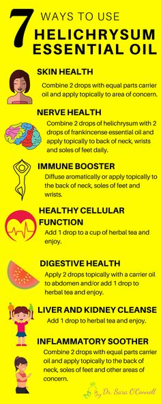 Helichrysum essential oil is used in aromatherapy to boost heart health. The anti-inflammatory properties of this medical plant enhance blood vessel health and lower hypertension. Helichrysum Essential Oil Uses, Essential Oils For Skin, Frankincense Essential Oil, Young Living Essential Oils, Essential Oil Blends, Helichrysum Oil, Arthritis, Healing Oils, Wound Healing