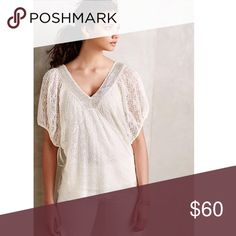 NWT anthropologie knit and knotted shirt NWT anthropologie knit and knotted shirt with glitter around the collar Anthropologie Tops Blouses