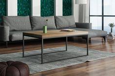 Stolik kawowy/herbaciany SAIF z blatem dębowym. Table, Furniture, Home Decor, Living Room, Decoration Home, Room Decor, Tables, Home Furnishings, Desks
