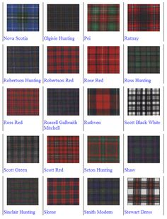Scottish Tartan Patterns - The Tartan Patterns are available at Scotland by the Yard in Quechee, Vermont. A fine Celtic shop in Vermont.