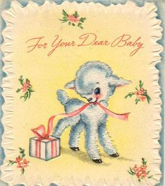 baby-lamb   profkaren   Flickr Baby Illustration, Portrait Illustration, Baby Lamb, Baby Boy, Easter Lamb, Baby Animals Super Cute, Congratulations Baby, Old Cards, Button Cards