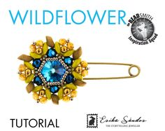 Wildflower brooch instant dowload for the pdf instructions