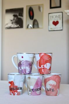 DIY Marble Mugs #myfairolinda