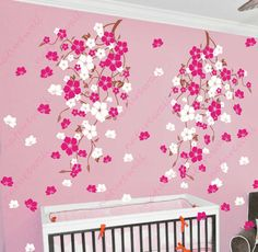 Nursery floral wall decals blossom vines  decals by NatureWall, $82.00