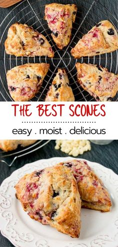 Learn how to make the best scones of your life! These scones have a dark-golden and crunchy outer crust. They are tender, moist and buttery on the inside. Plus you can easily adapt this recipe with your favorite add-ins. Brunch Recipes, Sweet Recipes, Breakfast Recipes, Dessert Recipes, Fall Desserts, Breakfast Bake, Breakfast Casserole, Baking Scones, How To Make Scones