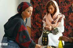 Damask rose scarves - ramallah area  Palestinian embroidery