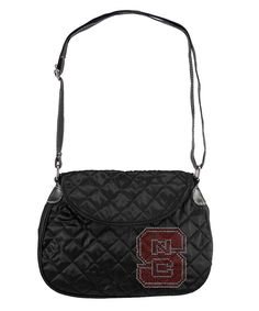 North Carolina State Wolfpack NCAA Sport Noir Quilted Saddlebag