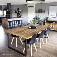 home decor ideas kitchen small dining tables Diy Furniture Table, Home Furniture, Furniture Shopping, Furniture Online, Dining Room Design, Dining Room Table, Table Design, Room Interior, Home Interior Design