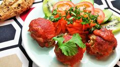 Cómo preparar Alb  ndigas de quinoa con salsa barbacoa, Recetas de Albóndigas Vegetarianas y Veganas. Ingredientes: Tomate , Ajo , Cebolla , Puerro , Pi...