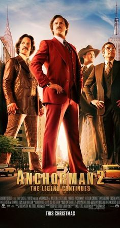 Anchorman 2: The Legend Continues (2013) - IMDb had to watch the sequel...not as good of course
