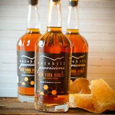 Honey-Infused Rye Whiskey: Located in New York's Catskill Mountains, Catskill Provisions specializes in raw, all-natural hand-made products, including pancake mix, maple syrup, chocolate truffles, and honey whiskey. The 80-proof hand-crafted rye is infused with honey from the region, giving it a hint of sweetness. It can be sipped on its own or blended into a cocktail such as an old-fashioned or a Wicked Bee's Knees along with elderberry liqueur, lemon juice, and maple syrup. The whiskey…