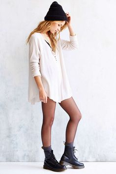 Truly Madly Deeply Boyfriend Thermal Henley Shirt - Urban Outfitters