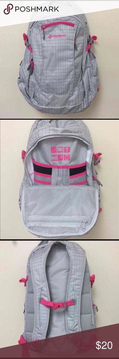 Sonic DayPack Women's Backpack • Deluxe Padded Back • Laptop Compartment  • Top Digital Tablet Pocket • Digital Gear Panel • 7 Pocket Organizer  • Dual Main Compartments  • Shoulder Straps with Sternum Adjuster • Beautiful Color & Design - Pink & Grey • Fast Shipment from NC  ~ Happy Shopping ~ Bags Backpacks