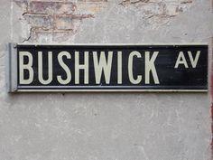 Bushwick Ave Brooklyn NY Original Vintage Twosided by ilikemikes, $499.00