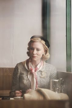 In the times when people sent telegrams to meet somewhere. Receiving the invitation in handwriting must have been beautiful. Cate Blanchett Films, Cate Blanchett Carol, Rooney Mara, 1950s Inspired Fashion, Patricia Highsmith, Lgbt, Actors & Actresses, Cute Girls, Celebs