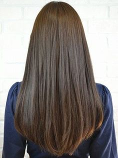 Black brown long straight hair - August 31 2019 at Medium Hair Cuts, Medium Hair Styles, Curly Hair Styles, Haircuts Straight Hair, Short Straight Hair, Bob Haircuts, Long Layered Haircuts Straight, Natural Straight Hair, Hairstyles Haircuts