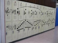Musical notes lockers. DUDE