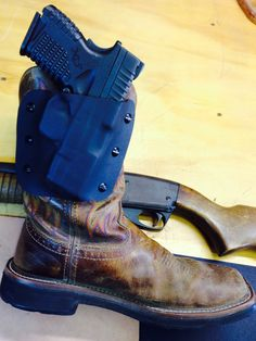 Boot holster for Springfield XDS by STS Defense Boot Holster, Pistol Holster, Boot Knife, Concealed Carry Holsters, Tac Gear, Mens Toys, Bow Accessories, Guns And Ammo, Girls Be Like