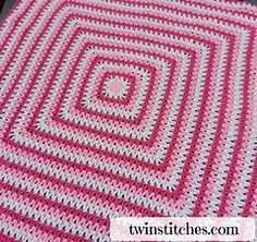 Wobbly Squares Blanket ~ free pattern