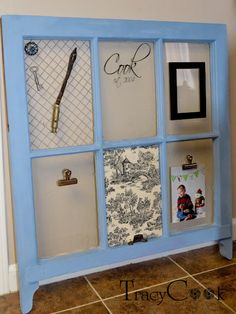old window repurpose. I like the clips on this one.