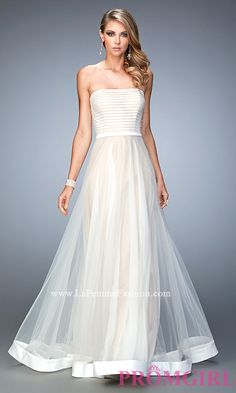 Long Strapless Prom Dress by La Femme Style: LF-22536