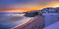 Late Sunset - An awesome late afternoon sunset in the Algarve - Portugal. The city is Albufeira and it was great having visited the location.