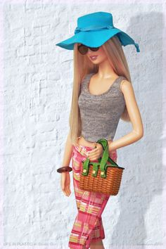 Casual stroll. In this photo: On Location™: Barcelona Barbie® doll.
