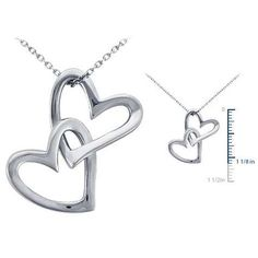 Double Heart Tattoos With Names | Double Heart Pendant Necklaces Valentines Birthdays