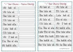 1.sınıf dikte çalışmaları örnekleri ile ilgili görsel sonucu