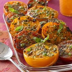 Healthy Appetizers: Roasted Tomatoes with Garlic and Herbs