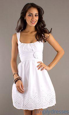 Scoop Neck Summer Dress.. would make an adorable rehearsal dinner dress :)