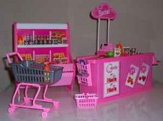 loved all of my barbie sets; swimming pools, store, bathroom