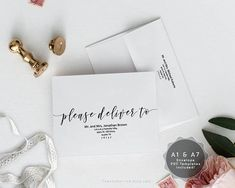 editable a1 and a7 envelope template instant download pdf wedding