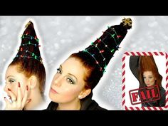 Christmas Tree Hair videos using plastic bottles have been popping up on my socials so I decided I need to giv. Christmas Tree Hair, Hair Videos, Fails, Hairstyle, Youtube, Beauty, Beleza, Hair Style, Make Mistakes