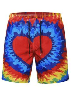 Donut Cartoon Mens Beach Shorts Linen Casual Fit Short Swim Trunks