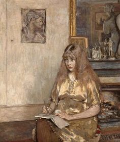"""Portrait of Geneviève Bernheim de Villers by Edouard Vuillard (French, Maurice Denis, Pierre Bonnard, Edouard Vuillard, Charles Angrand, Art Populaire, Post Impressionism, Figure Painting, Glue Painting, Beautiful Paintings"