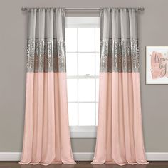 Girls Room Curtains, Pink Curtains, Curtains Living, Window Curtains, Bedroom Curtains, Teen Curtains, Living Room Grey, Living Room Decor, Bedroom Decor