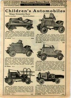 1933 Ad Pedal Cars Skippy