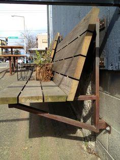 Angle bench at Ocho, Ballard, Seattle